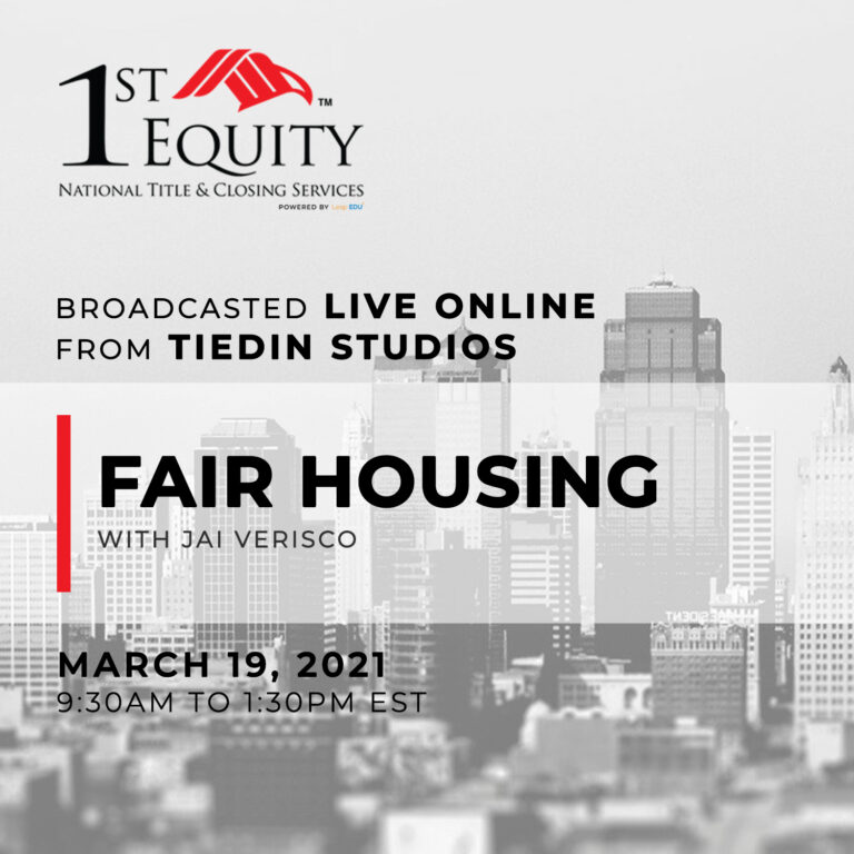 Fair Housing with Jai Verisco